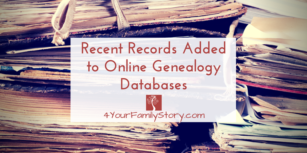 Are your ancestors in these records? Recent Records Added to Online #Genealogy Databases https://t.co/iheJBhdxvY https://t.co/zqd4RCua3L