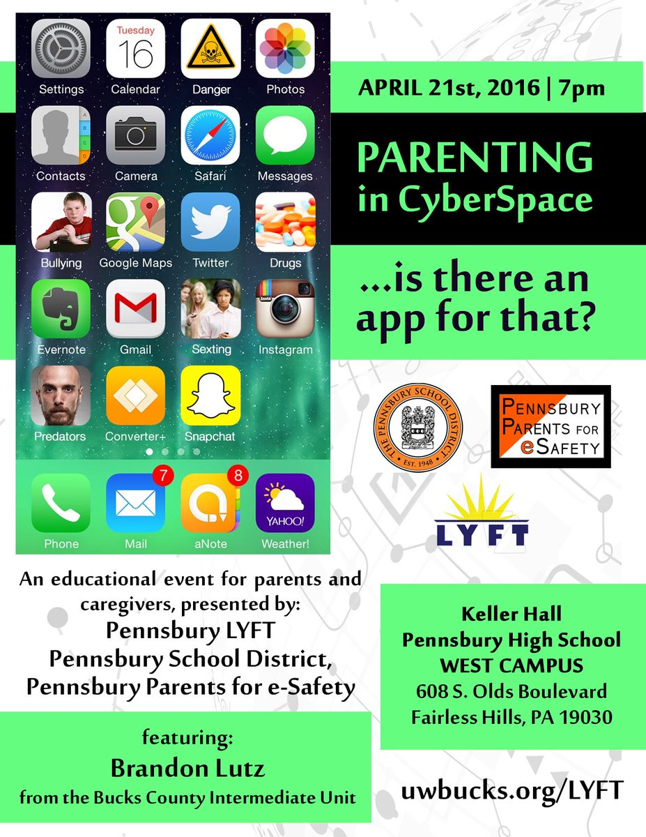 A #poster we designed for an #esafety event in #bucks county PA. @pennsburyLYFT @UWBucks @UnitedWay #graphicdesign https://t.co/otlh0xBsQ9