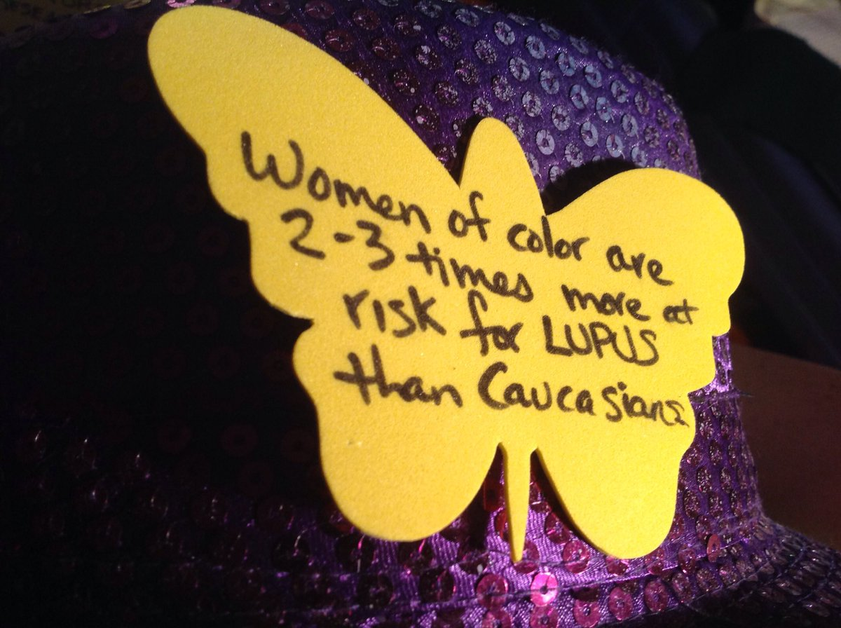 Butterfly fact. Women of color are 2-3 times more at risk for #Lupus than Caucasians. #LupusAwarenessMonth https://t.co/ISud160CnP