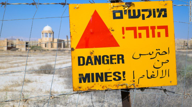 Landmines set to be cleared from site associated with baptism of Jesus.