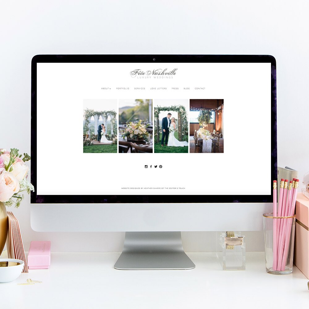 Lookin' GOOD @fetenashville !!! #webdesign #eventprofs #nashvillewedding https://t.co/iuDDDkkZFx