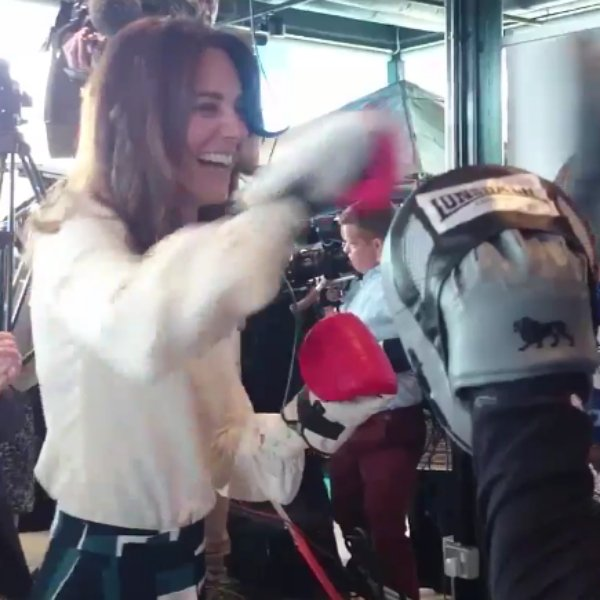 Kate Middleton, Prince William & Prince Harry throw their best punches for mental health: