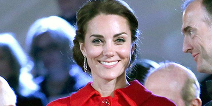 Kate Middleton surprises in little red coat for Queen's birthday via @PEOPLEroyals