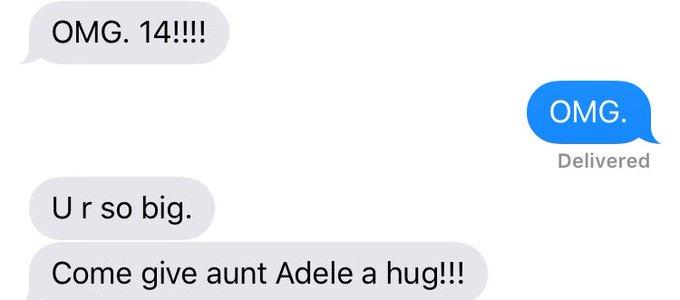This is how Adele said happy birthday