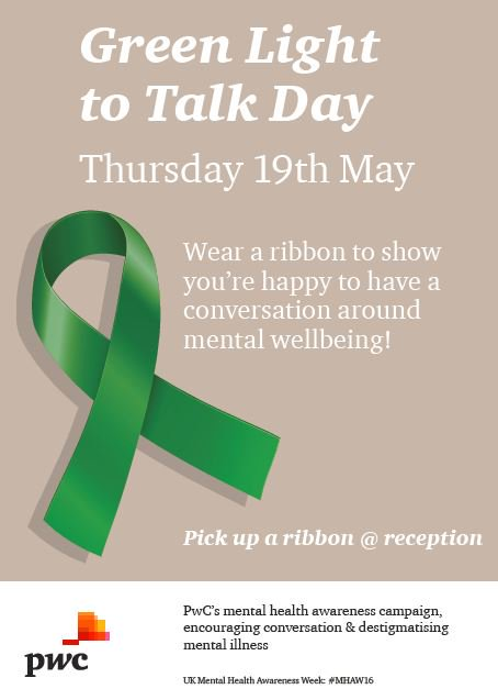 We're supporting mental health week. We're encouraging our people to talk about mental health at work #MHAW16 https://t.co/8K57bb42Dp