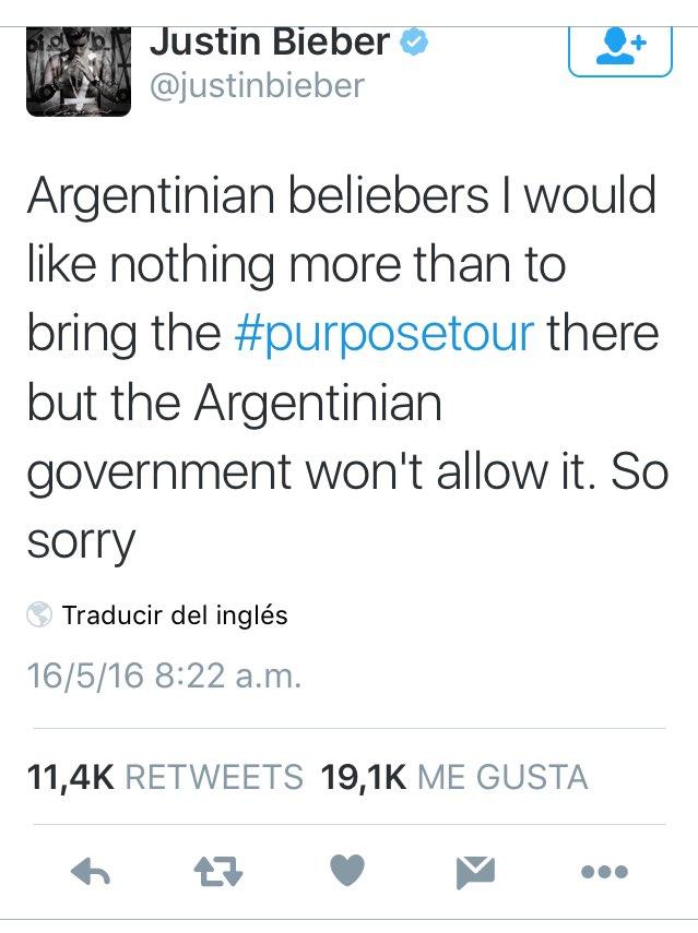 Boudou caminando por ahí y @justinbieber que no puede venir a cantar! El colmo. https://t.co/8VY4MS6ho3