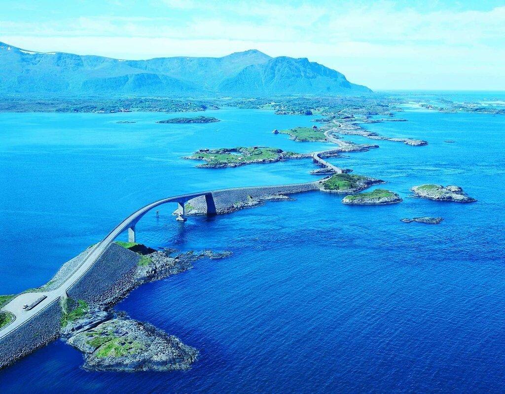 Atlantic Ocean Road, Norway ☁🌈 https://t.co/s8Fvokz9oM