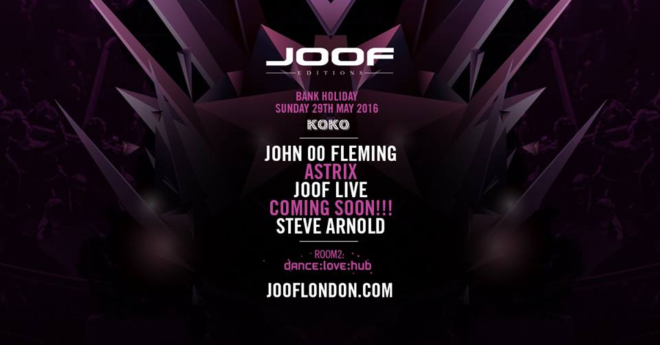 I need a huge favour everyone retweet this flyer of our JOOF Editions event London next week at @KOKOLondon #trance https://t.co/z69jmM7acy