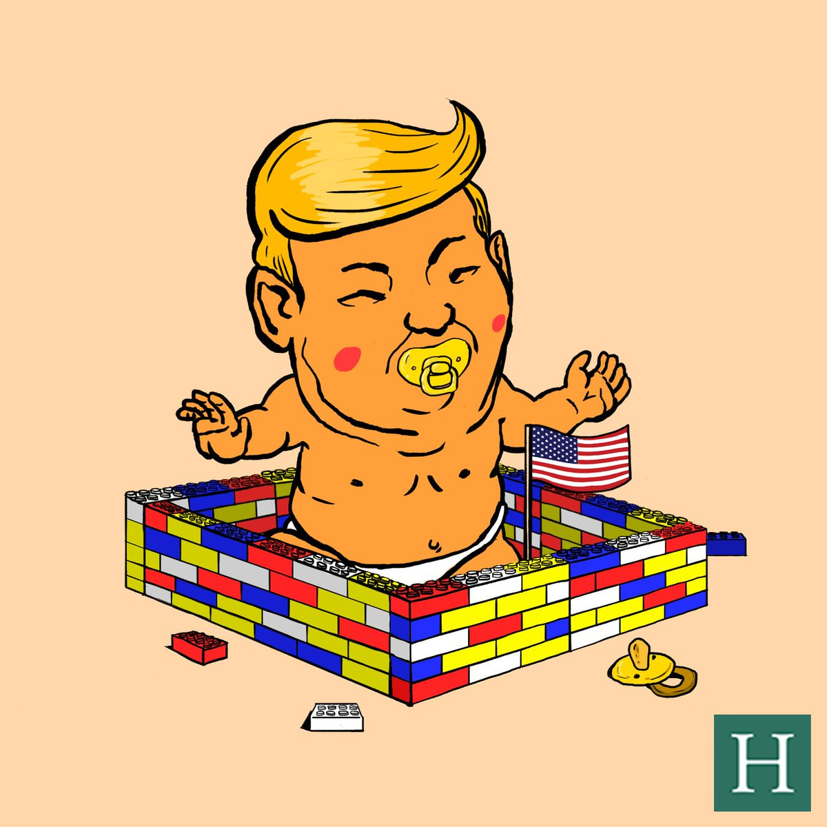 Image result for baby lego wall trump