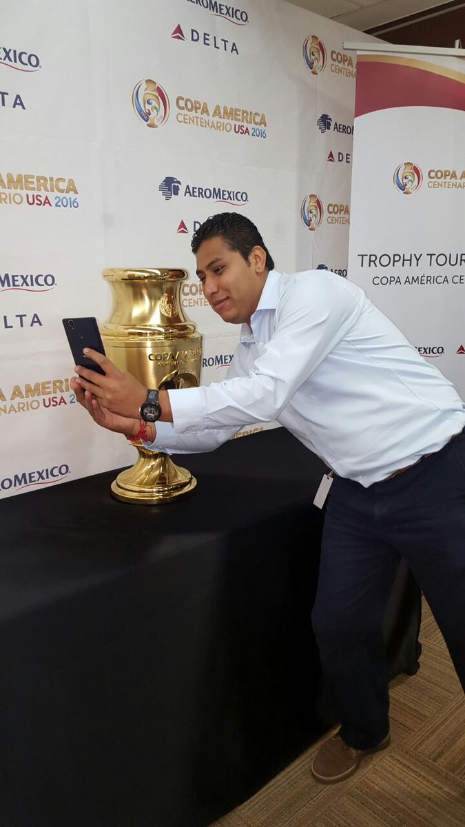 .@Delta brings iconic Copa America Trophy to Mexico City