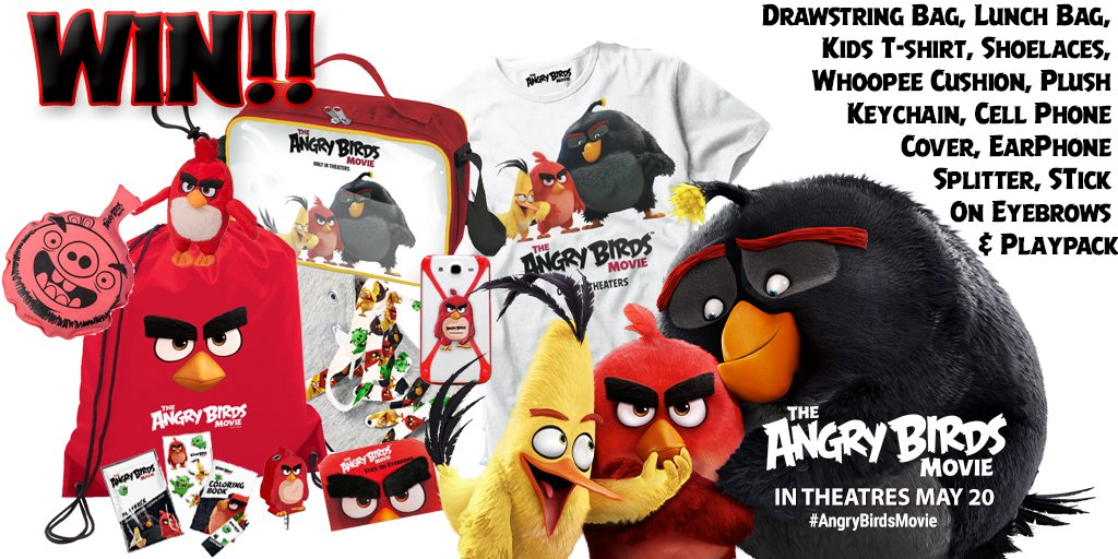 #AngryBirdsMovie opens this Fri, 5/20! #RT by 5/23/16 for a chance to win a prize! Tix: https://t.co/53eQJkuRHK https://t.co/5xMZRFjlds