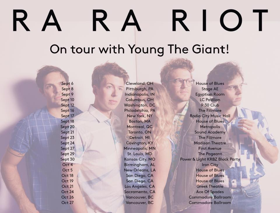 Catch @rarariot on tour with @youngthegiant this fall! Tickets on sale this Friday. #NeedYourLight https://t.co/AjO4B7Rfwh