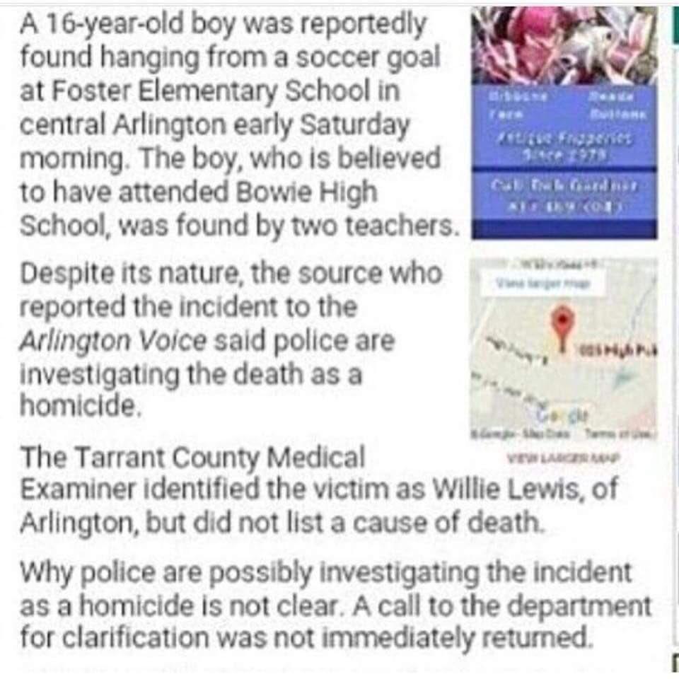 Make this go viral. #RipWillie smh he didn't hang his self. @ArlingtonPD https://t.co/v2abQQZQCX