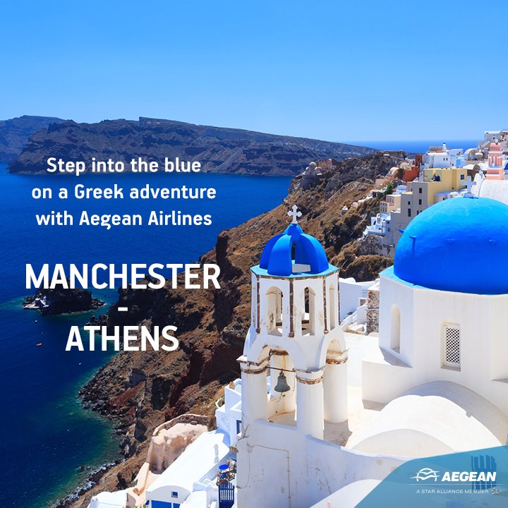 Fly direct from Manchester to Greece and beyond with @aegeanairlines