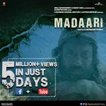 RT @madaariofficial: Thanking our fans as we cross 5M views on the #MadaariTrailer. Watch it here: https://t.co/2R23K5vtmQ https://t.co/zLP…