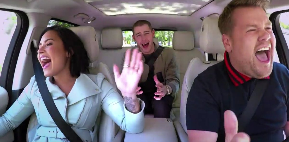 Nick Jonas and Demi Lovato's CarpoolKaraoke is here, and it doesn't disappoint: