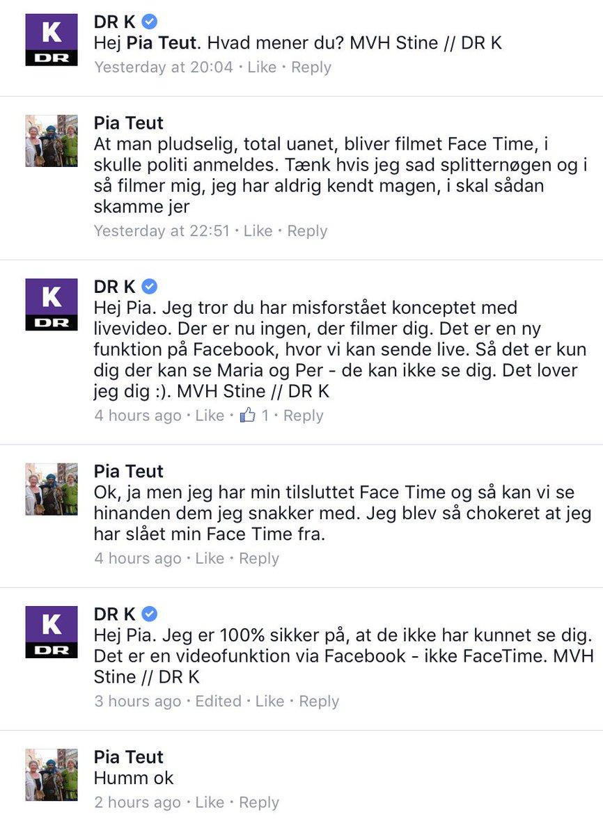 Pia ser en livevideo fra DR K på Facebook. Og tror, de også kan se hende https://t.co/VYPtH0LXlc https://t.co/QBDsDZclmo