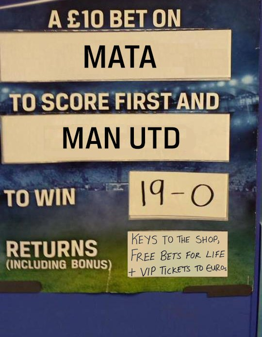 Plenty of price requests on United to beat Bournemouth 19-0. Our shop staff have come up with a price! https://t.co/wVy7hbB5CH