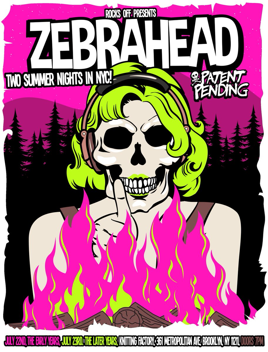 JUST ANNOUNCED: two nights of @zebrahead on July 22+23. Limited # of two night passes for $35- tix on sale Friday! https://t.co/I7yv6Pj4yy