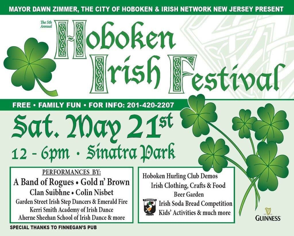 You're in luck: The @HobokenIrish Festival is this Saturday from noon to 6pm in Sinatra Park.