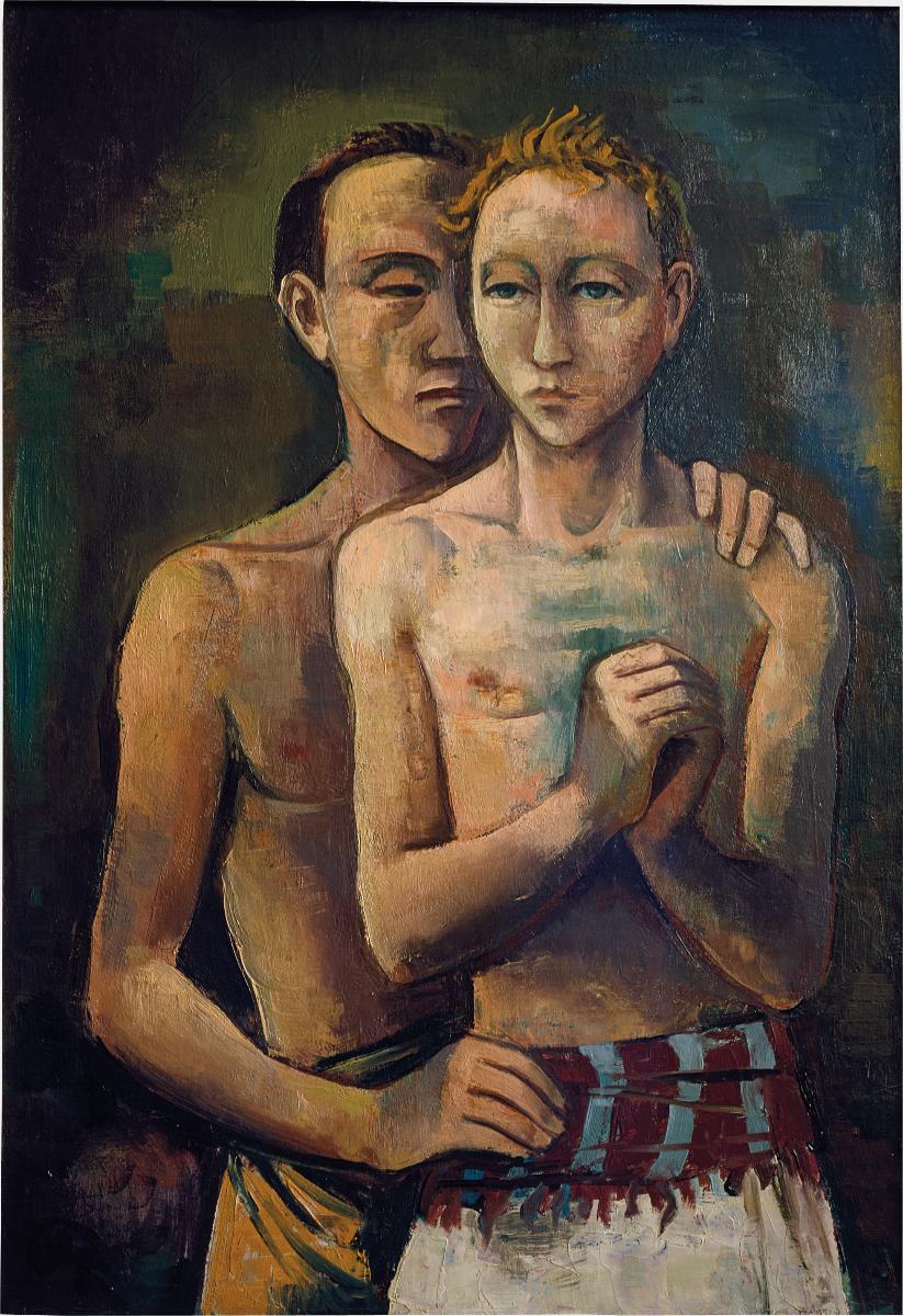 "Zum Internationalen Tag gegen Homophobie und Transphobie: Karl Hofer, ""Zwei Freunde"" (1926) #IDAHOT2016 https://t.co/76Kwqi8mVf"