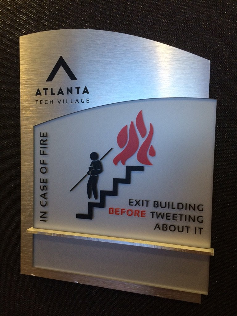 Love this at @ATLTechVillage ... https://t.co/0SNbXkqFJ0