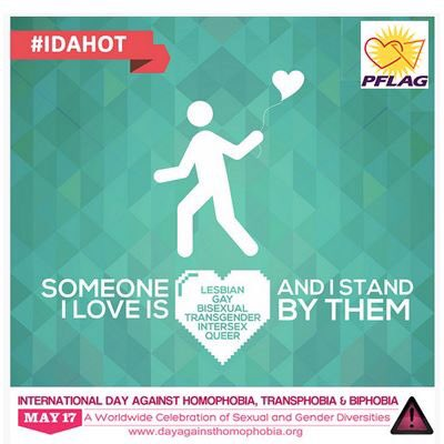 Today is #IDAHOT2016. Stand by your #LGBTQ loved ones, today and every day. https://t.co/n1GKvv4HkQ