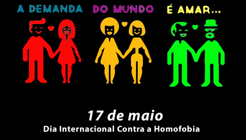 Respeitar a diversidade é defender o direito à igualdade! #17demaio #DiaMundialContraaHomofobia https://t.co/dfaHPc8oR9