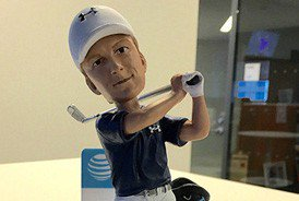 If you're headed to the @attbyronnelson on Saturday, the first 8,000 get Jordan Spieth bobbleheads. #golf #dollup https://t.co/hha5b6h5OV
