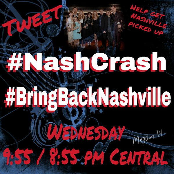If you don't want to see the show Nashville disappear, this is happening: #NashCrash #BringBackNashville https://t.co/ohmuqXbGHn