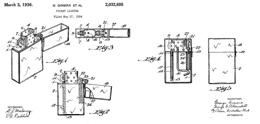 On this day in 1934, our patent was filed! Notice any differences between this & our current #Zippo lighter? https://t.co/mQd0GTYQw1
