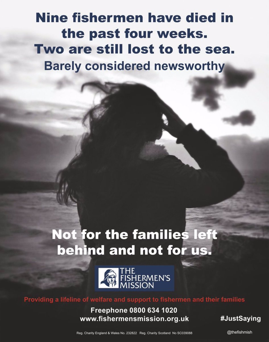 Can you help us spread the word by RT our campaign - 9 fishermen have died in the past 4 weeks #justsaying https://t.co/8bHC9TdIqI