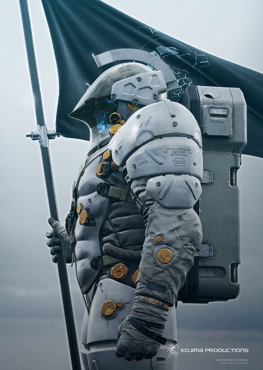 """これがコジマプロダクションのアイコンである""""ルーデンス(遊ぶ人)""""。最先端の装備と技術、フロンティアスピリットを駆使して""""新しい未来""""に、""""新しい遊び""""を届けたいと思います。彼が着ているのは船外活動(EVA)クリエイティブ服です。 https://t.co/6j9Rbsy604"""