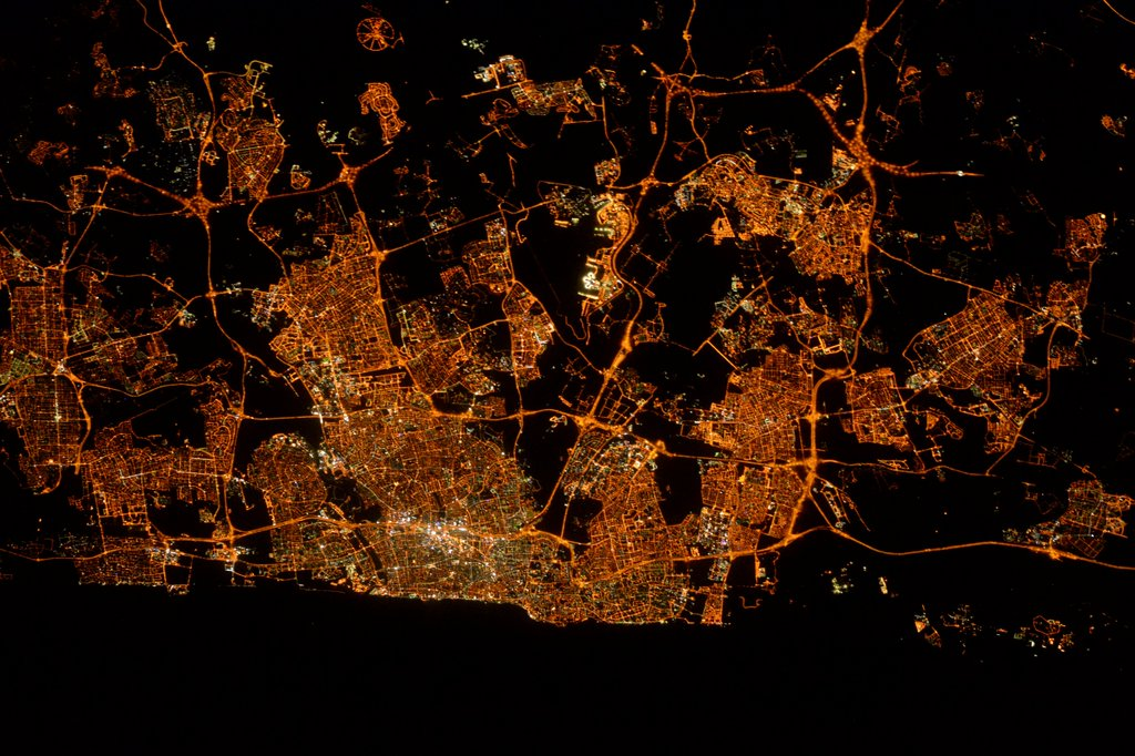 Good Night Tel Aviv - from the NASA Space Station!!!! https://t.co/GvseaWkgpI