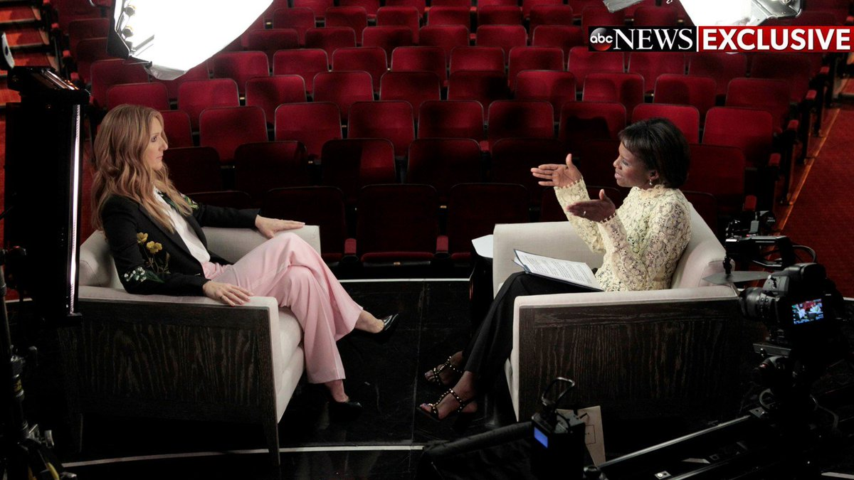 on GMA & NIGHTLINE tomorrow- sat down w/ @celinedion in Vegas for first interview since deaths of husband & brother https://t.co/jpveWkFLE8