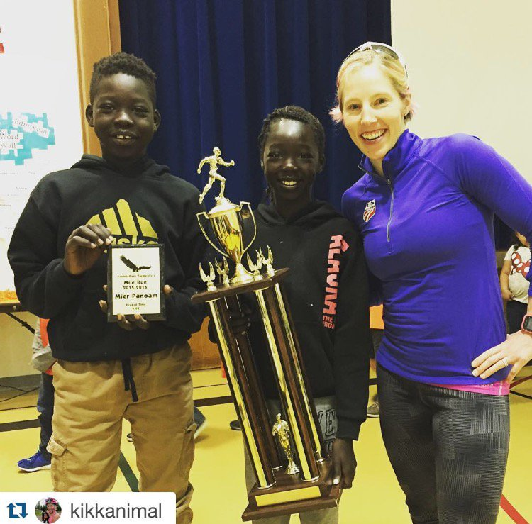 After 21 yrs, Kikkan Randall's elementary school mile run record has been broken! Congratulations, Mier Panoam! https://t.co/IRXLreHOqa