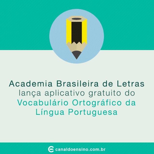 Academia Brasileira de Letras lança aplicativo do Vocabulário Ortográfico. https://t.co/bXhtPI0v3r #Aplicativo https://t.co/X3nJITYJet