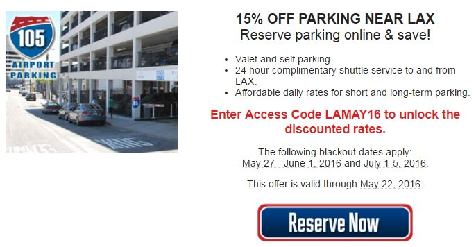 RT @SPPlusSoCal: 15% OFF parking near @flyLAXairport ✈