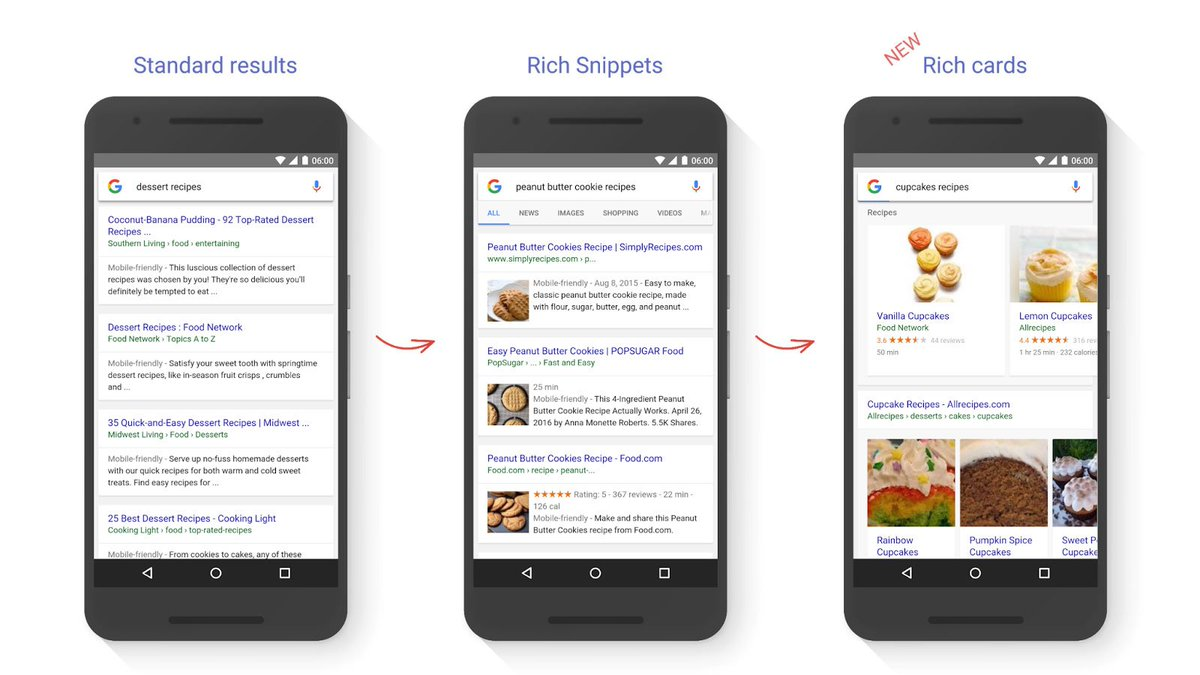 """Google introduces """"Rich Cards"""" - rich snippets for a mobile world - https://t.co/9ByVbezaEn @google https://t.co/AiYoybNq9X"""