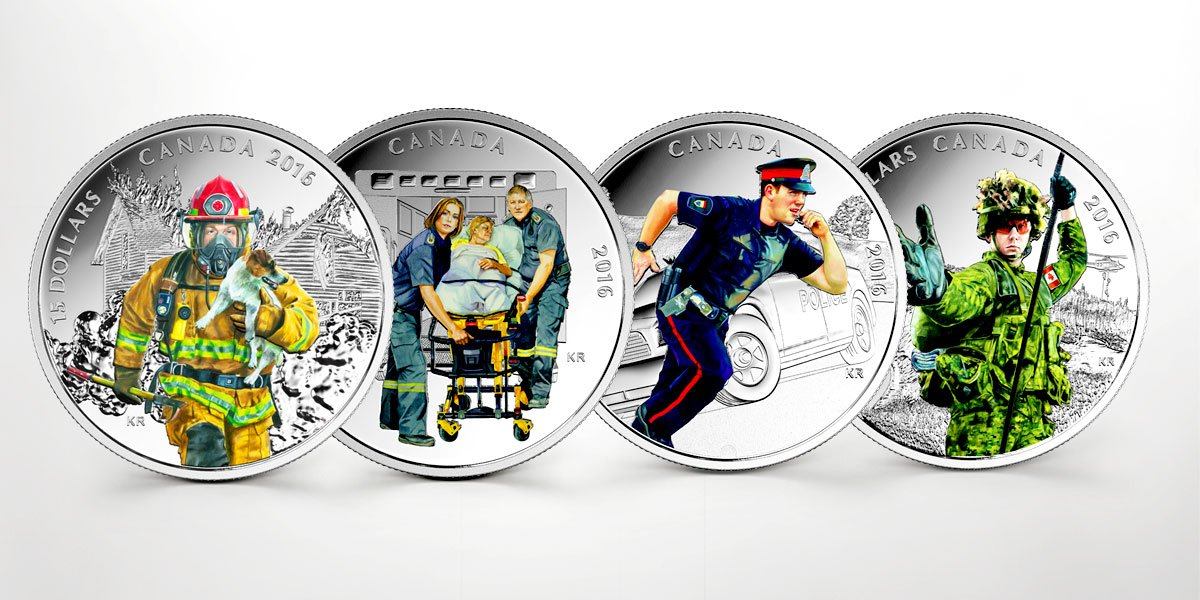 New silver collector coins from the Royal Canadian Mint honour Canada's everyday heroes: https://t.co/tNwlTulrqI https://t.co/iRktscY9yc