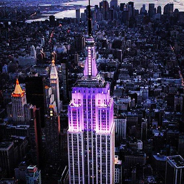 Tonight -- the @EmpireStateBldg is lighting up #violet for #NYU2016! #Steinhardt2016 https://t.co/KM9tjYTMy4
