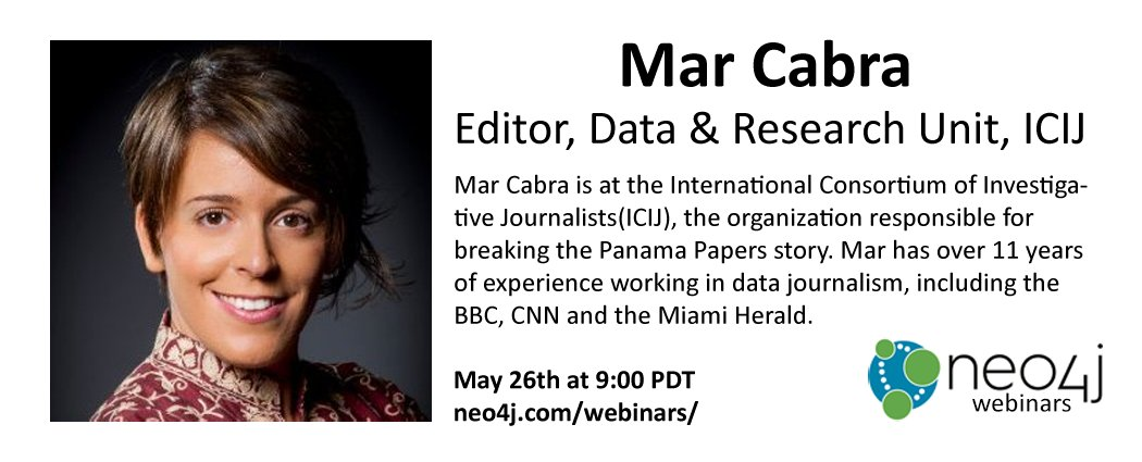 Webinar: How the ICIJ Used Neo4j to Unravel the Panama Papers by @cabralens. Register now: https://t.co/Qxaq6xYubk https://t.co/uArR3K8bWd