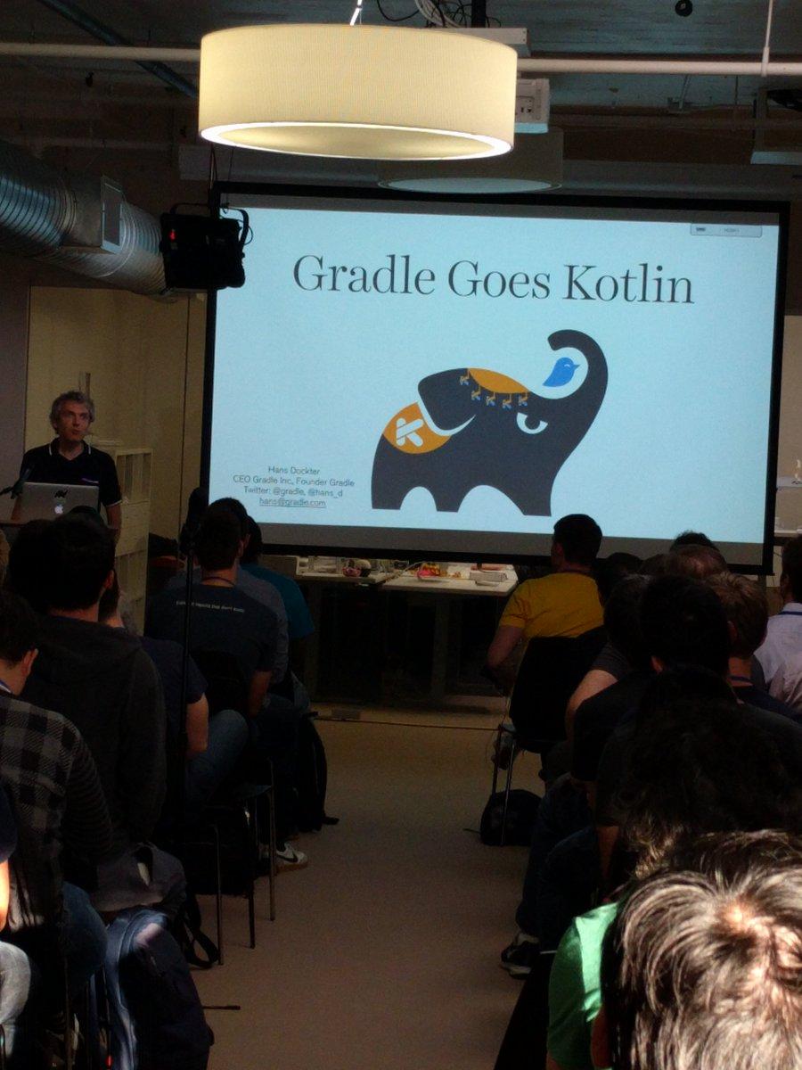 Kotlin meetupで、GradleがKotlin使うよって話が突然始まった https://t.co/70ywxDWCoI