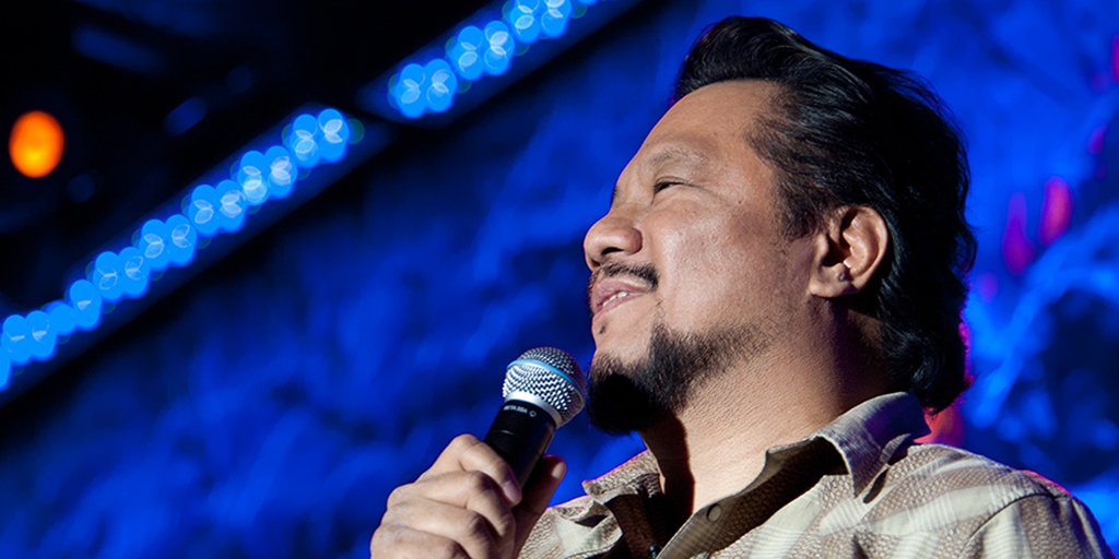 Comedian Rex Navarrete is always the first man standing: