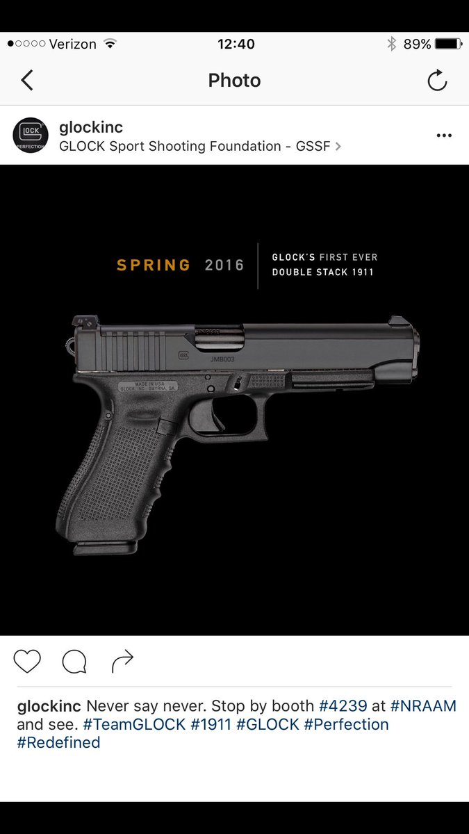 Screenshot from Instagram shared with HoG. Not on the account. Seems legit? #NRAAM hashtag... https://t.co/ntMVzo98Gq