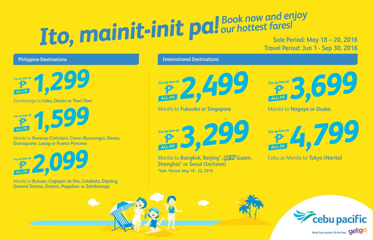 Nothing else is hotter than our new CEBSeatSale this summer! Book now!