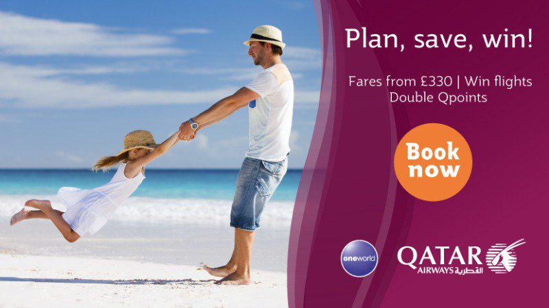 Plan ahead @qatarairways great fares starting fr £330 Economy Book by 23 May