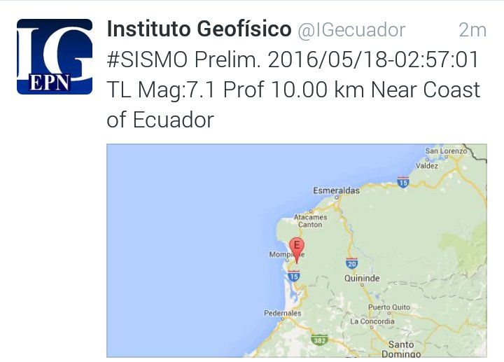 #Sismo Mantenga la calma. Revise nuestras recomendaciones en https://t.co/rcGqq6U56c https://t.co/bzw7yWYcEJ