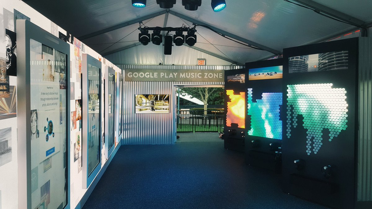 Some cool installations at the Google Play Music Zone. Come by and say hello! #io16 https://t.co/LfhDl5xTNs
