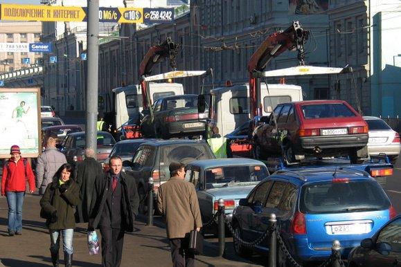 Совет федерации разрешил забирать автомобили со стоянки до оплаты стоимости эвакуации